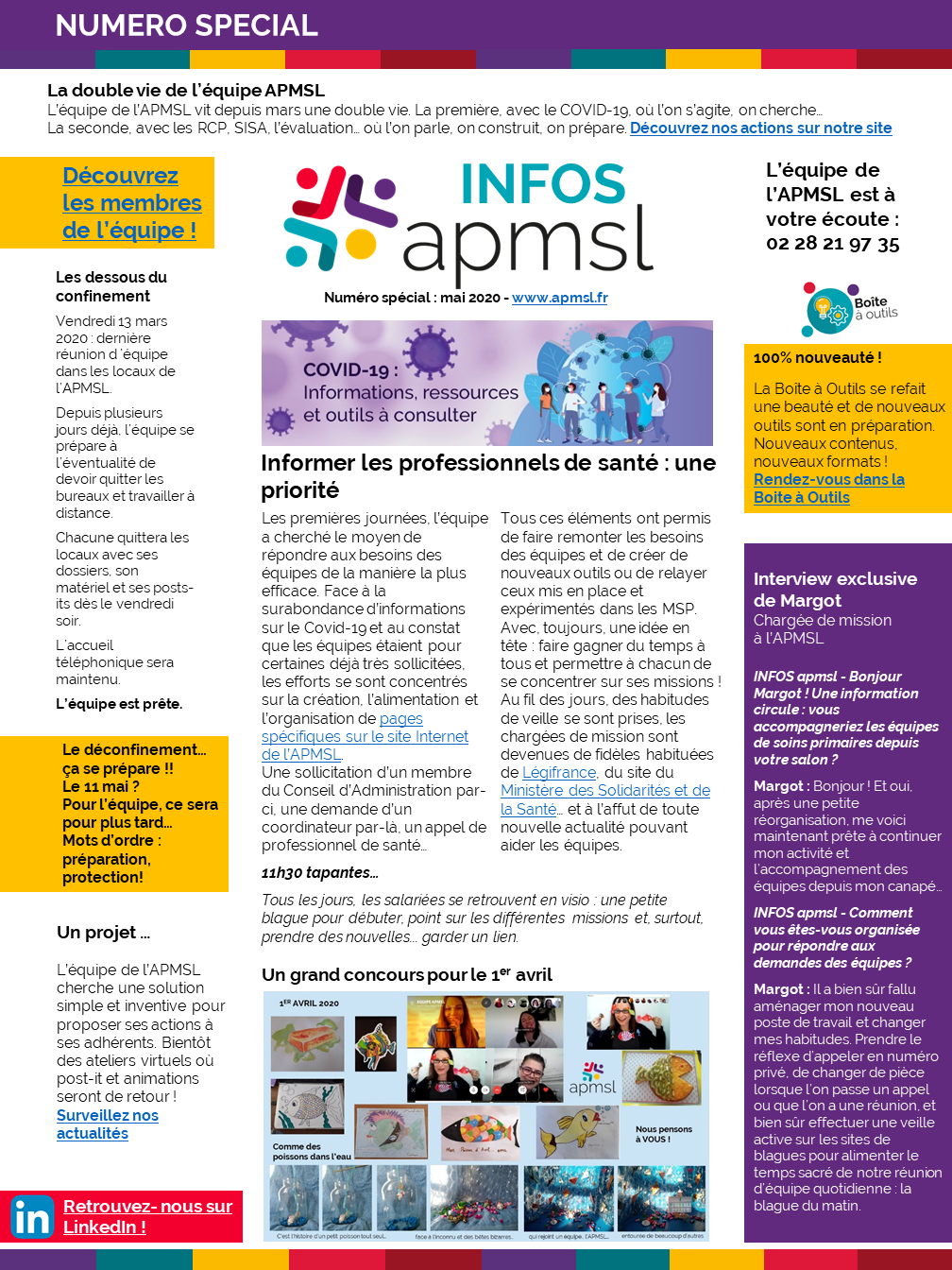 Les infos de l'APMSL